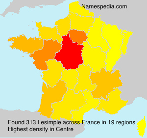 Surname Lesimple in France