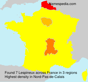 Surname Lespineux in France