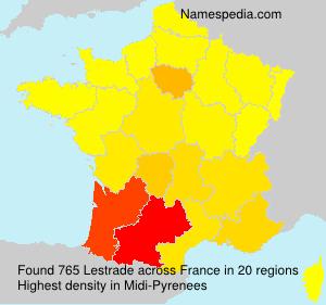 Surname Lestrade in France