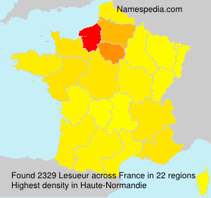 Surname Lesueur in France