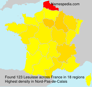 Surname Lesuisse in France