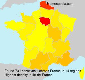 Surname Leszczynski in France