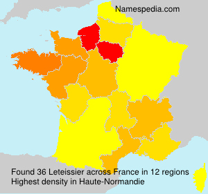 Surname Leteissier in France
