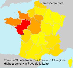 Surname Letertre in France