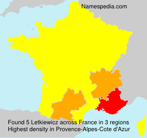 Surname Letkiewicz in France
