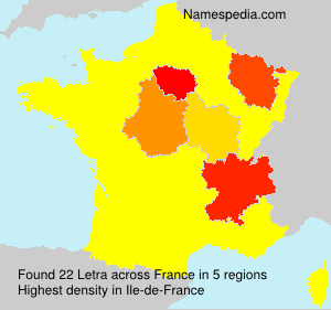 Surname Letra in France