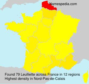 Surname Leulliette in France