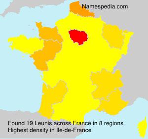Surname Leunis in France