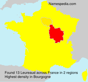 Surname Leureaud in France