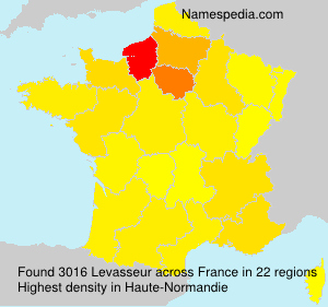 Surname Levasseur in France
