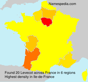 Surname Levecot in France