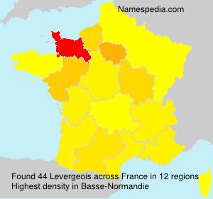 Familiennamen Levergeois - France