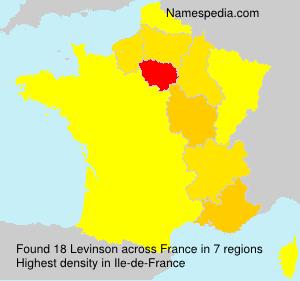 Familiennamen Levinson - France