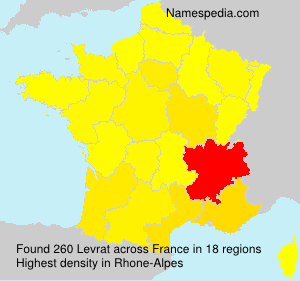 Surname Levrat in France