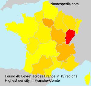 Surname Levret in France