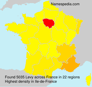 Surname Levy in France