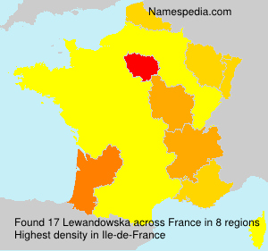 Surname Lewandowska in France