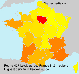 Surname Lewis in France
