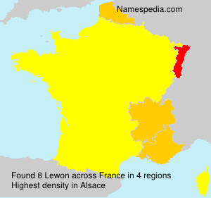 Surname Lewon in France