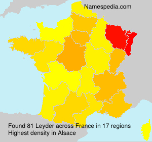 Surname Leyder in France