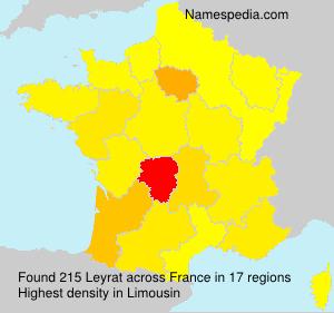 Surname Leyrat in France