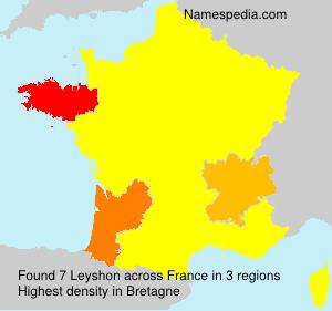 Familiennamen Leyshon - France