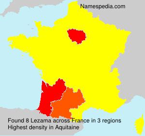Surname Lezama in France