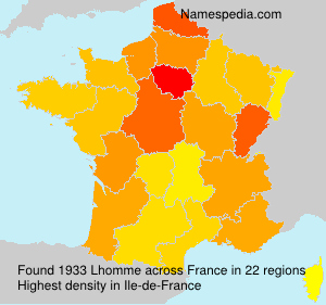 Surname Lhomme in France