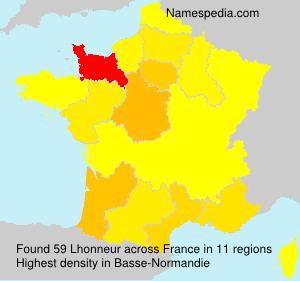 Surname Lhonneur in France