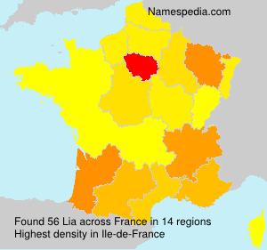 Surname Lia in France