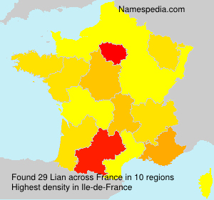 Surname Lian in France