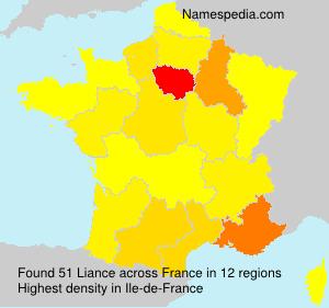 Familiennamen Liance - France