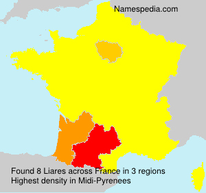 Surname Liares in France