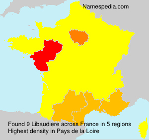 Surname Libaudiere in France