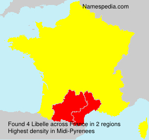 Surname Libelle in France