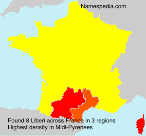 Surname Liberi in France