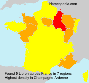 Surname Libron in France