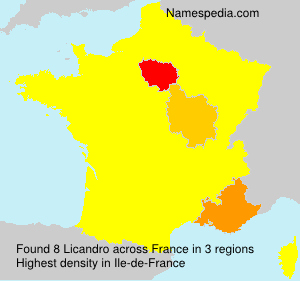 Surname Licandro in France