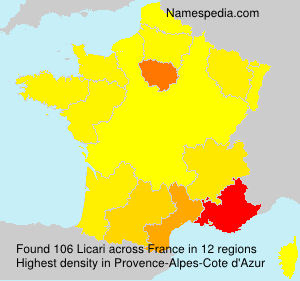 Surname Licari in France