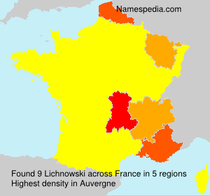 Surname Lichnowski in France