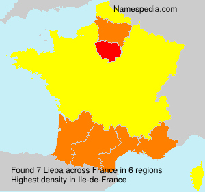 Surname Liepa in France