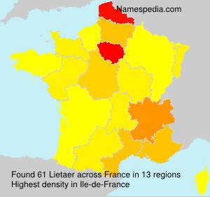 Surname Lietaer in France