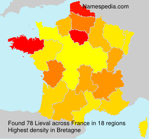 Surname Lieval in France