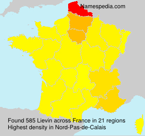 Surname Lievin in France