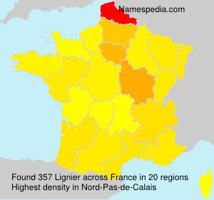 Familiennamen Lignier - France