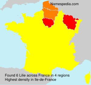 Familiennamen Lilie - France