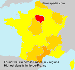 Surname Lilla in France