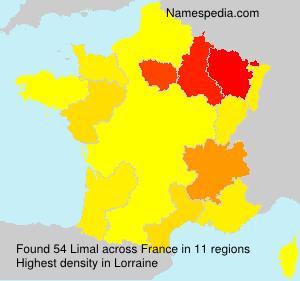 Familiennamen Limal - France