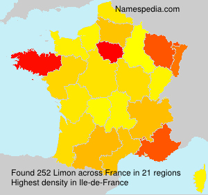 Surname Limon in France