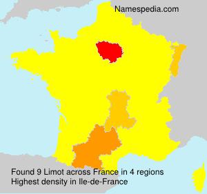 Surname Limot in France